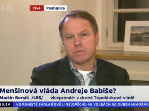 Bursík o menšinové vládě Andreje Babiše