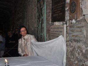 Před deseti lety došlo k slavnostnímu odhalení pamětní desky u hrobu svatého Cyrila v římské bazilice sv. Klementa. Desku odhalila tehdejší předsedkyně sněmovny Miroslava Němcová
