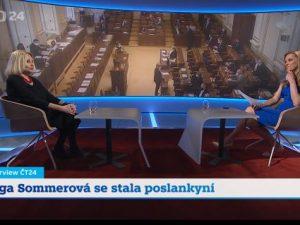 Interview ČT24 Olga Sommerová