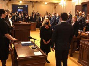 První místopředsedkyně LES Olga Sommerová složila jako nová poslankyně ústavou předepsaný slib