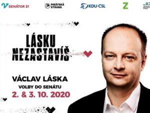 Václav Láska postoupil do druhého kola senátních voleb jako kandidát hnutí SEN 21, Pirátů, KDU-ČSL, Zelených a LES v obvodu 21 – Praha 5