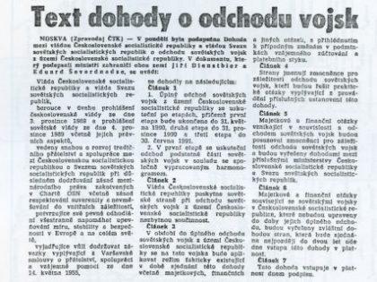 Michael Kocáb pro iDNES.cz: Den odchodu sovětských vojsk měl být dávno státním svátkem.