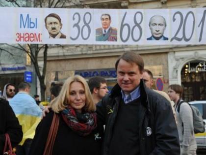 Martin Bursík na demonstraci za Ukrajinu: